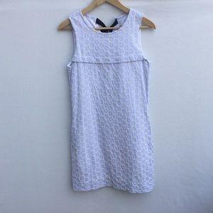 J.Crew sleeveless crochet detail seersucker dress.